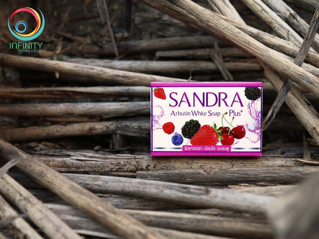 กล่องสบู่ SANDRA Arbutin White Soap