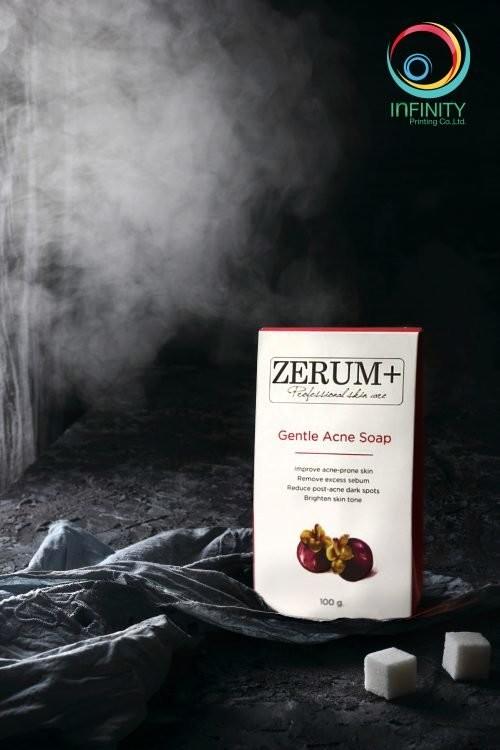 กล่องสบู่ ZERUM+ Gentle Acne Soap