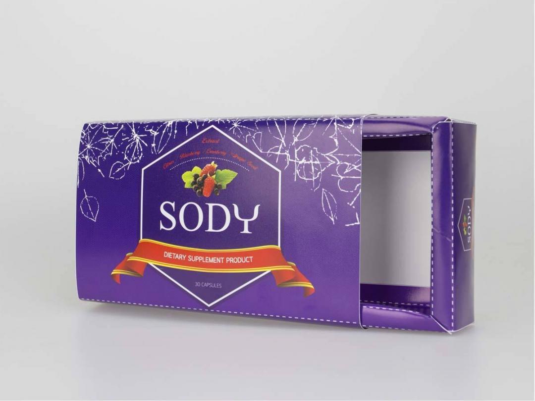 กล่องอาหารเสริมลดน้ำหนัก SODY