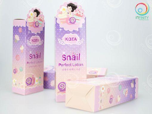 กล่องโลชั่น K.O.T.A Snail Perfect Lotion
