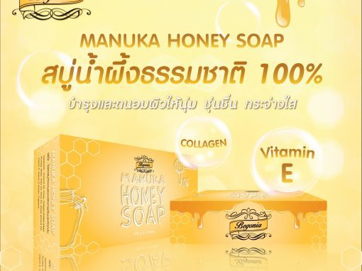 ป้าย Ads Begonia MANUKA HONEY SOAP