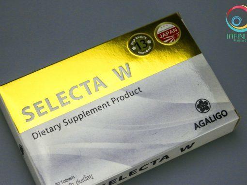 ผลงานปั๊มเคทองกล่อง SELECTA W
