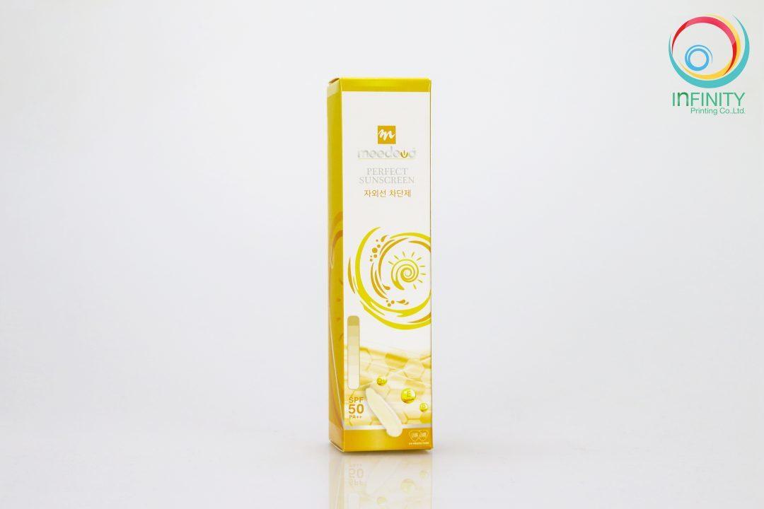 กล่องครีม Meedeva Perfect Sunscreen Cream