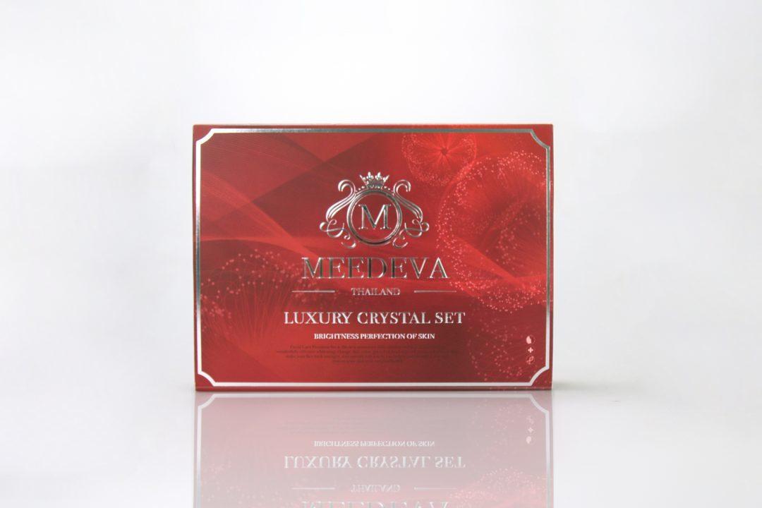 กล่องเซ็ทครีม Meedeva luxury crystal set
