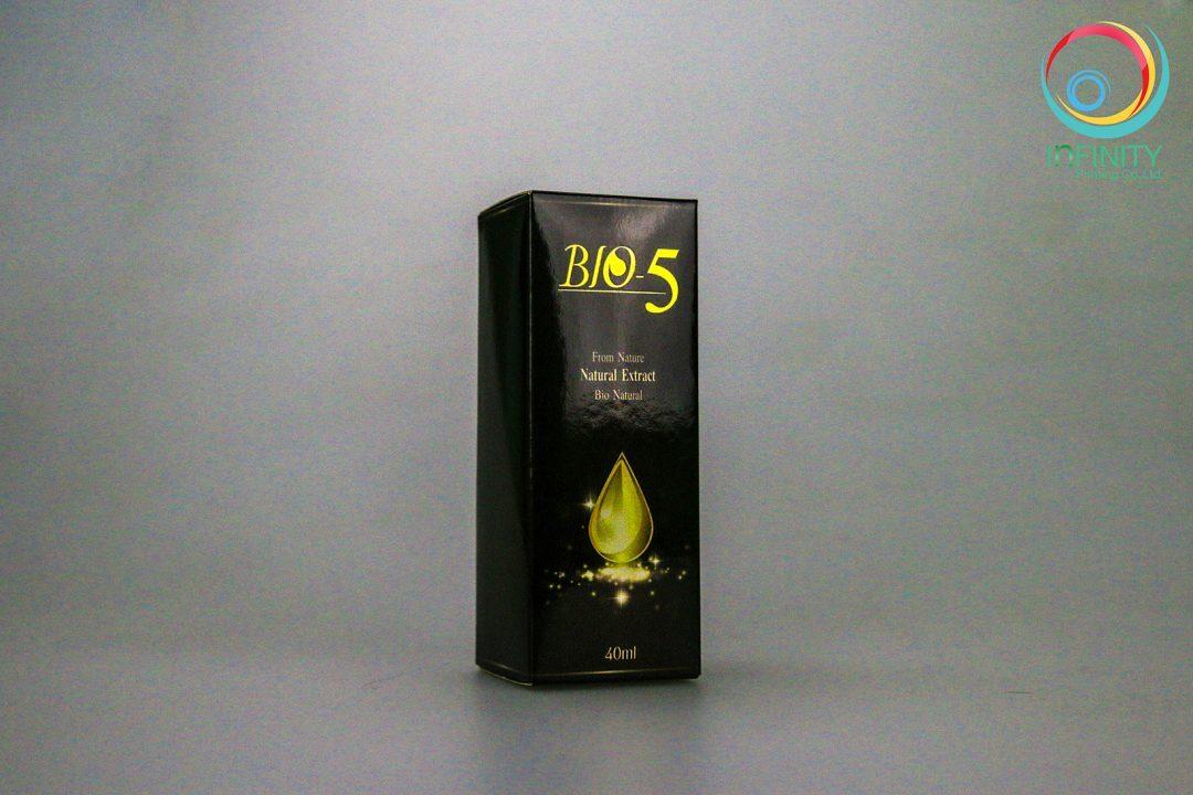 ผลงานปั๊มเคทองกล่อง Bio5