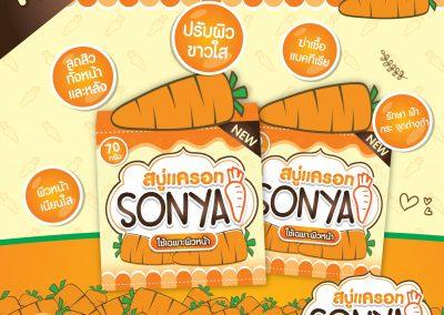 ป้าย Ads แบนเนอร์ สบู่แครอท Sonya