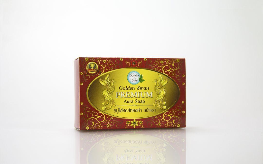 กล่องสบู่ Perfect Herb Golden Swan Premium Aura Soap