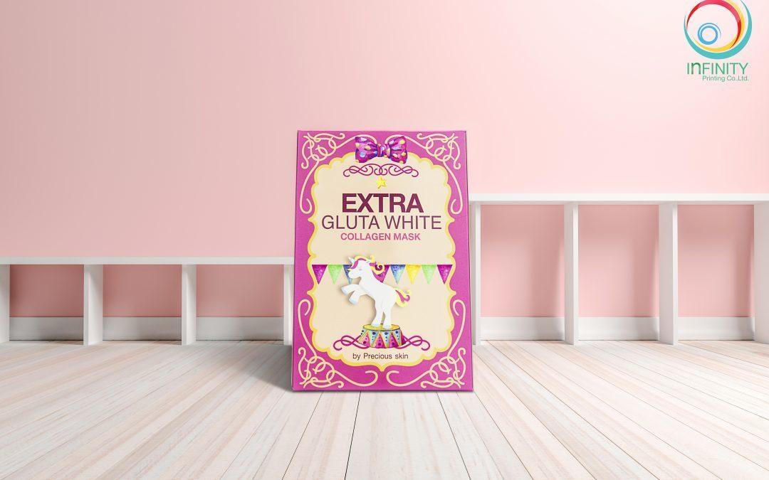 กล่องครีม Precious Skin Extra Gluta White Collagen Mask