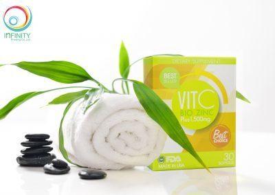 กล่องอาหารเสริม VIT C BIO ZINC