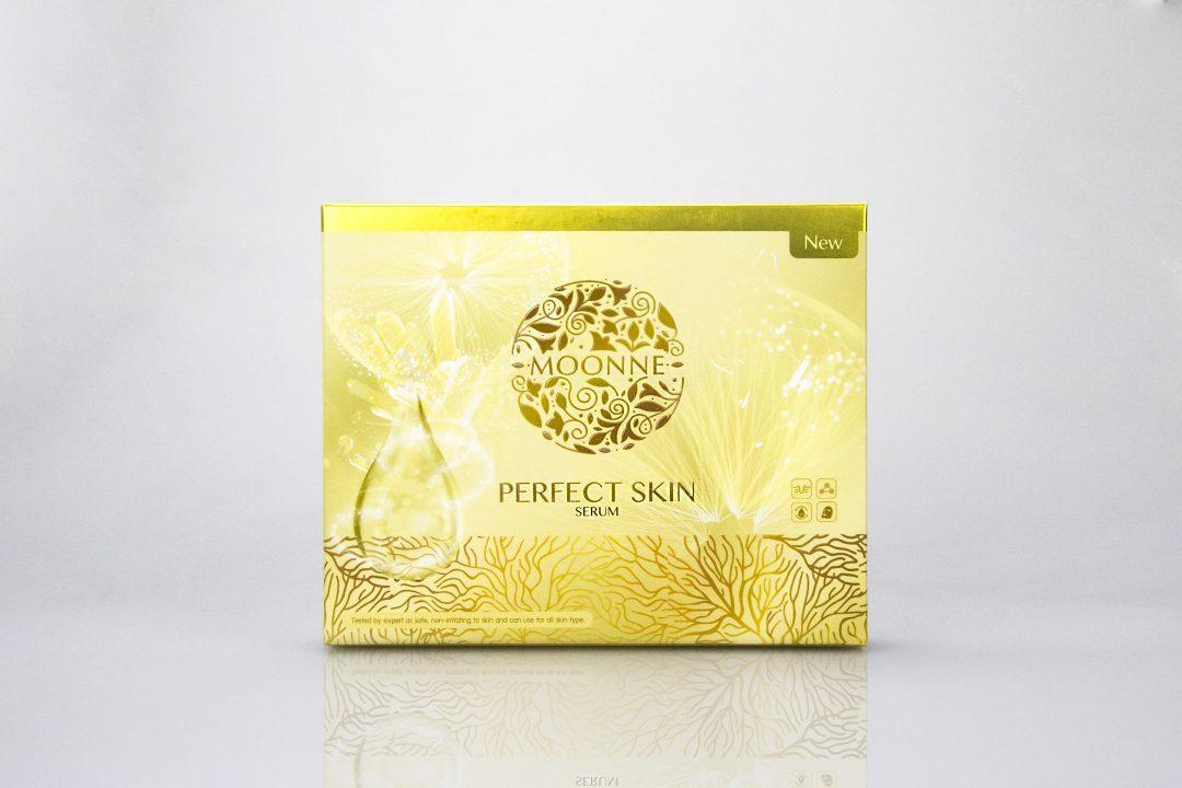 กล่องเซรั่ม moonne perfect skin serum