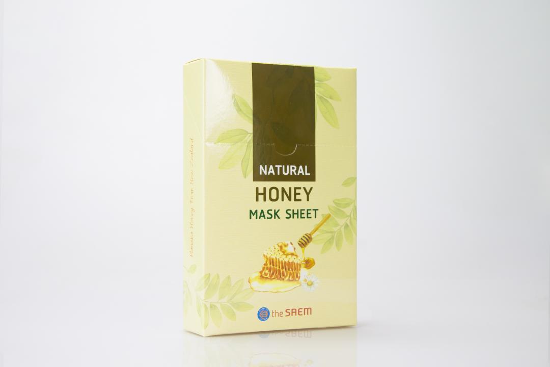 กล่องครีม THE SAEM Natural Honey Mask Sheet