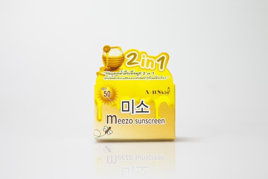 กล่องครีม Meezo Sunscreen