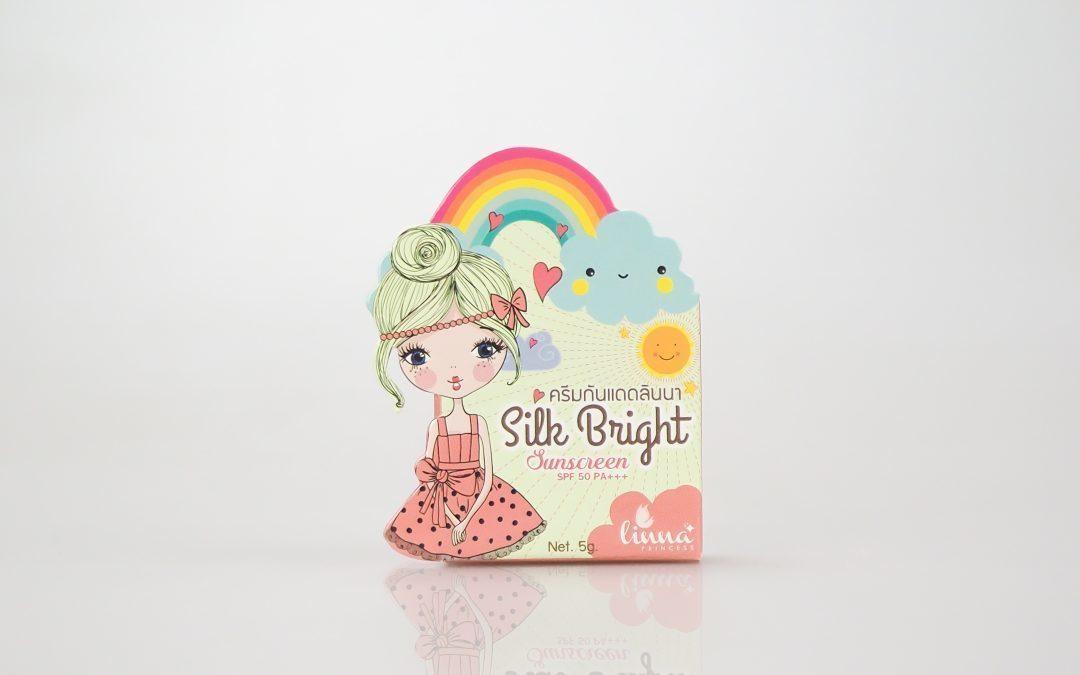 กล่องครีม linna princess silk bright sunscreen