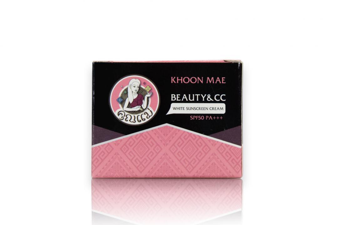 กล่องครีม KHOON MAE White Sunscreen Cream