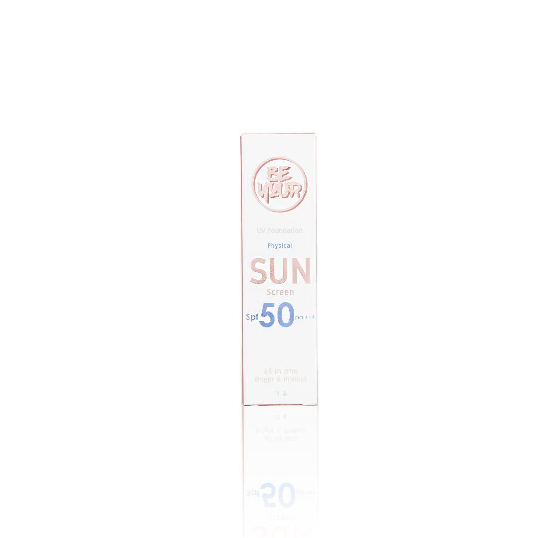 กล่องครีม BE YOUR physical sunscreen