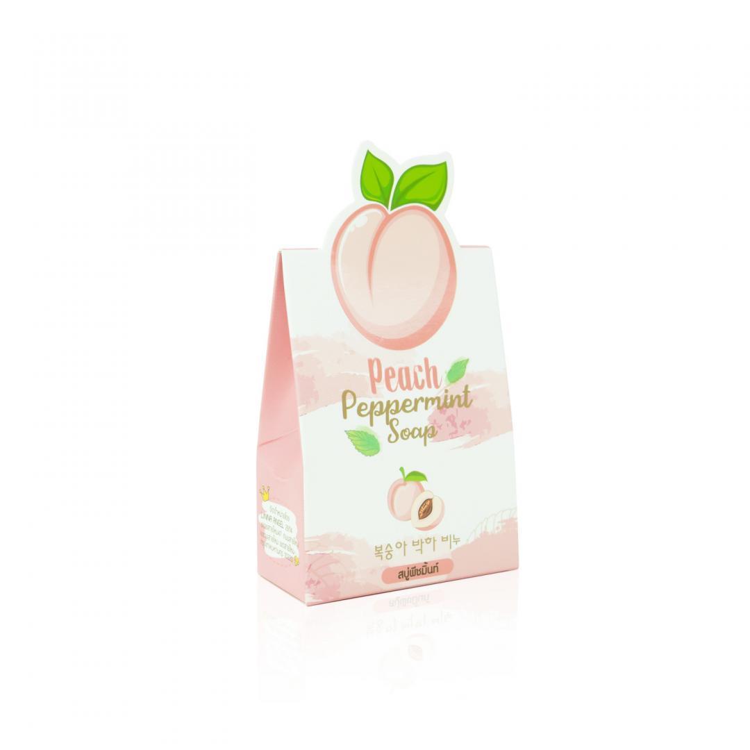 กล่องสบู่ Peach Peppermint Soap