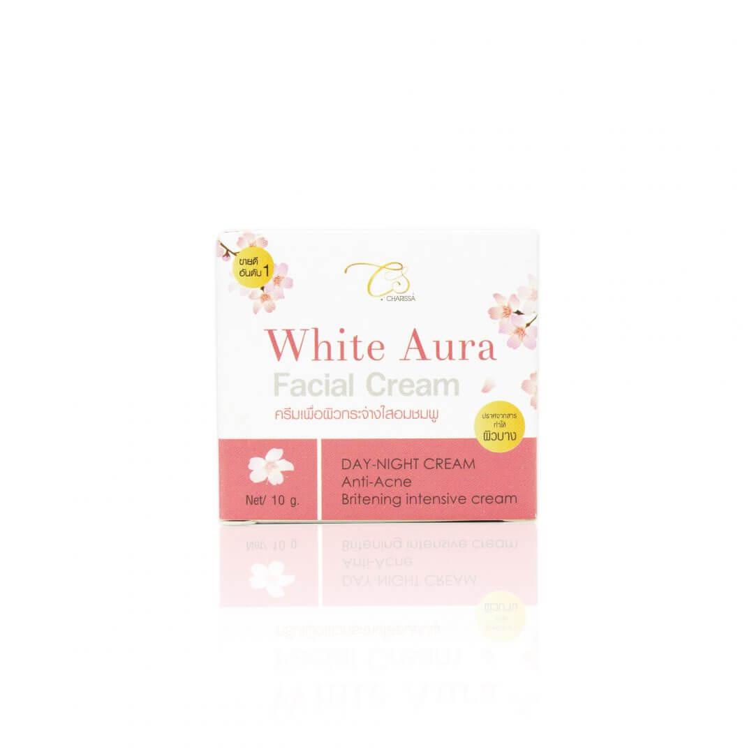 กล่องครีม Charissa white aura facial cream