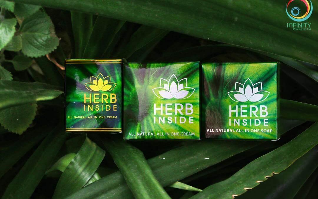 กล่องครีม HERB inside all in one cream