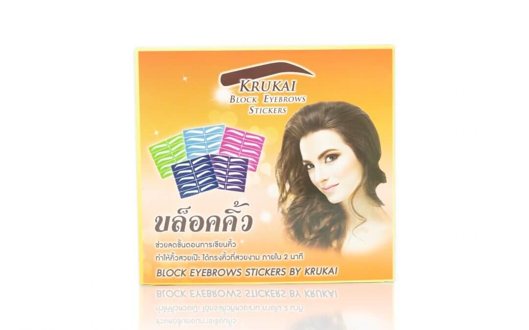 กล่องบรรจุภัณฑ์ Krukai Block Eyeblow Sticker