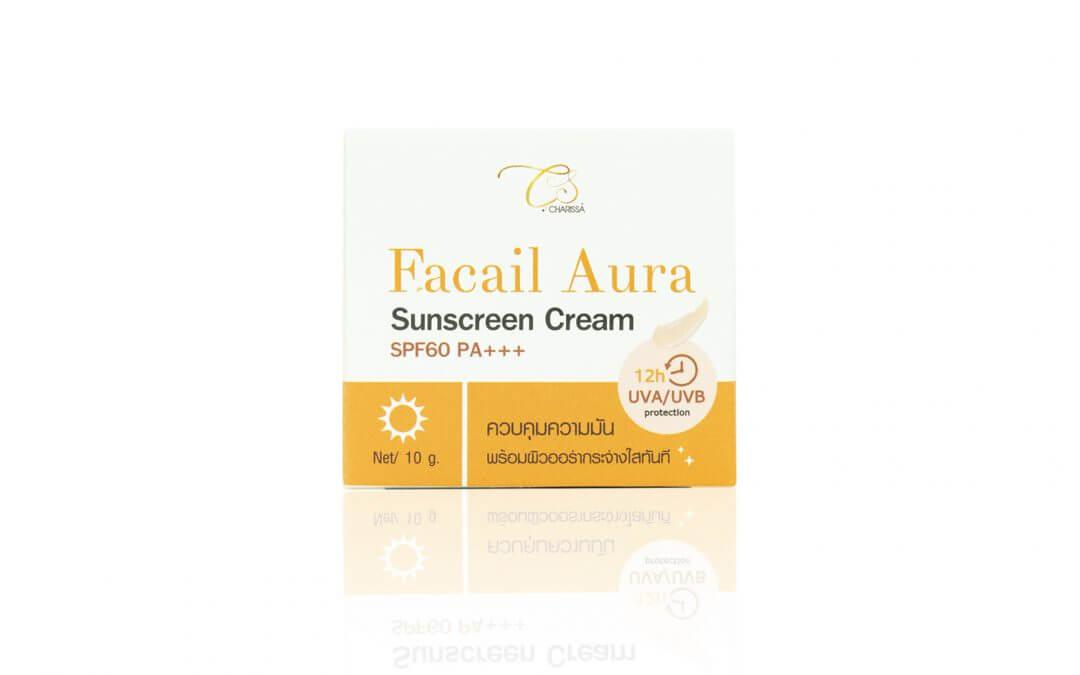 กล่องครีม Charissa Facial Aura Sunscreen Cream