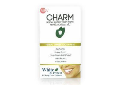 กล่องบรรจุภัณฑ์ CHARM (HERBAL CHARM TOOTHPASTE)