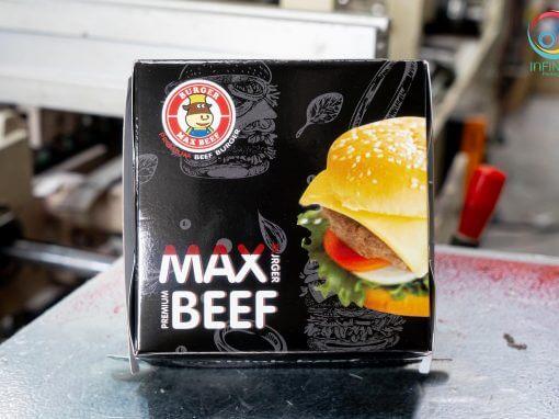 กล่องอาหาร max beef burger