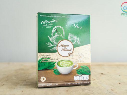 กล่องชาเขียว(package) Maya Blend