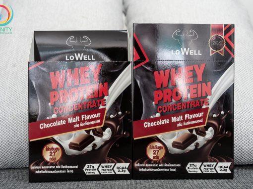 กล่องอาหารเสริม LoWELL กลิ่นช็อกโกแลตมอลต์