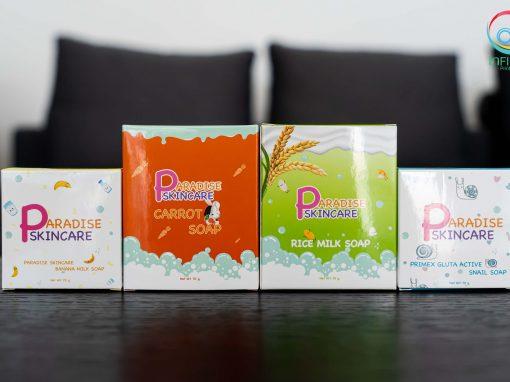กล่องสบู่ Paradise skincare